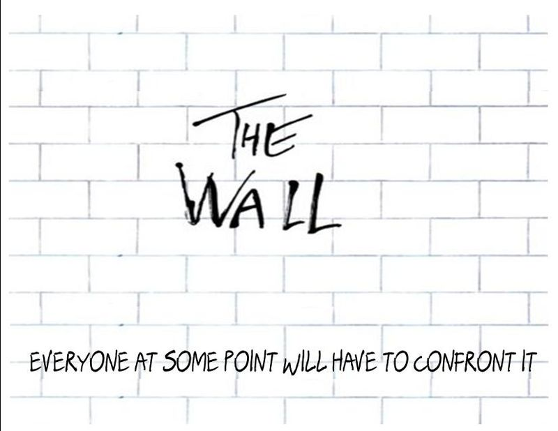 The Wall postcard Side 1-1